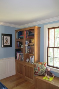 Built-in Bookcase and Window Seat